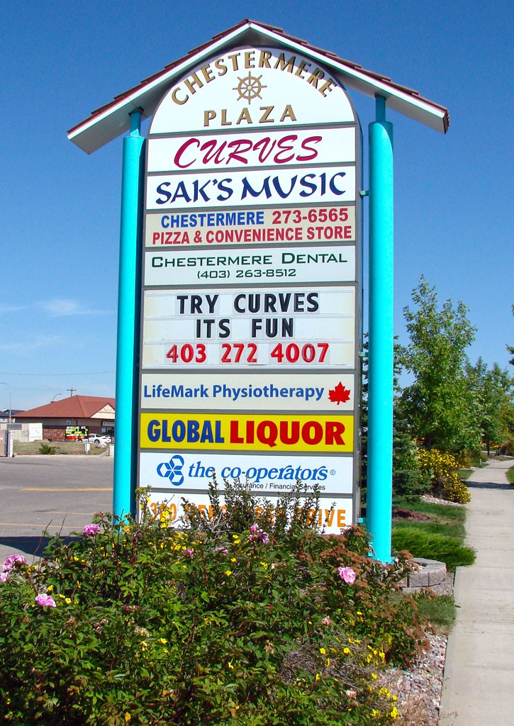 Chestermere Plaza Sign